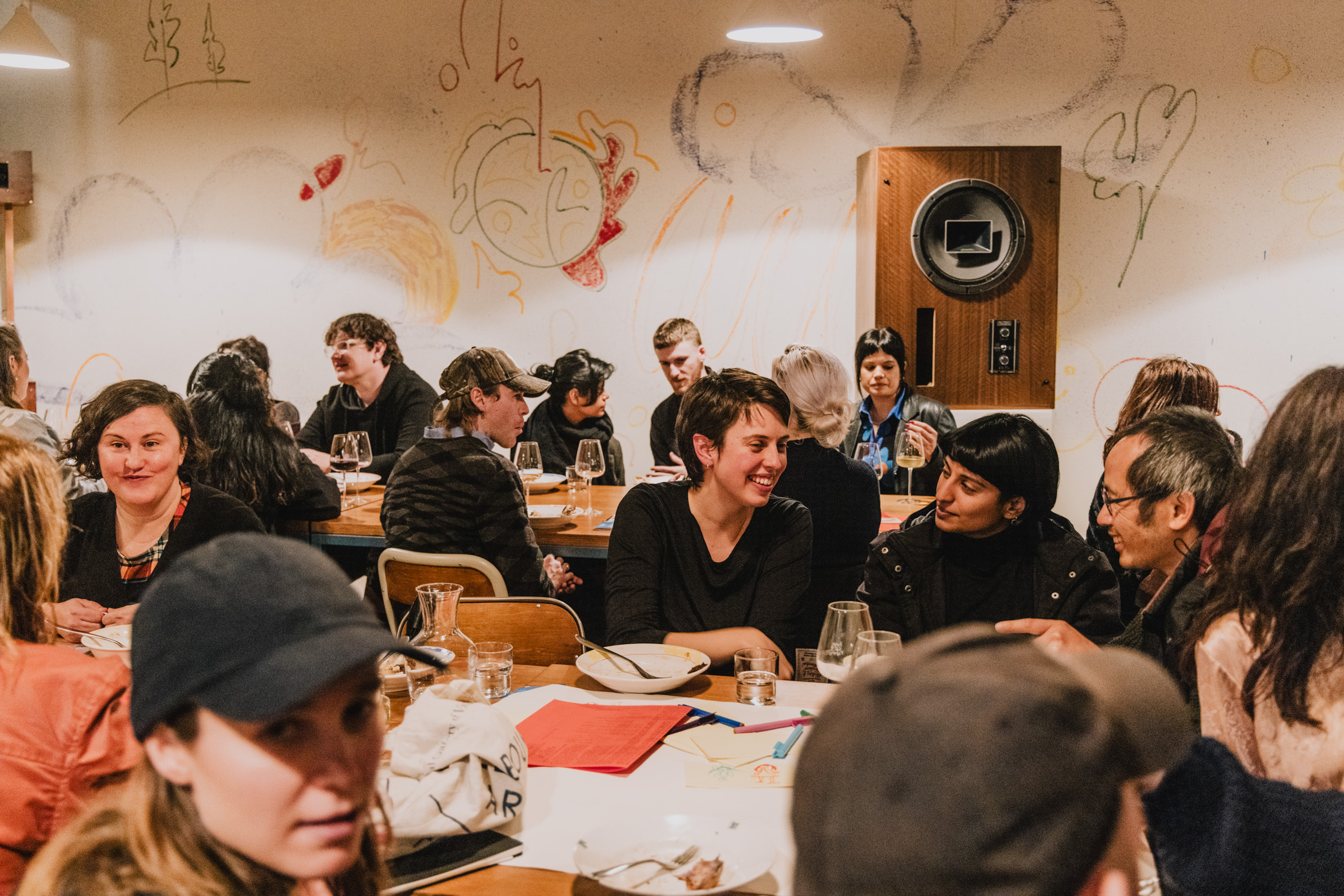 image of dinner attendees