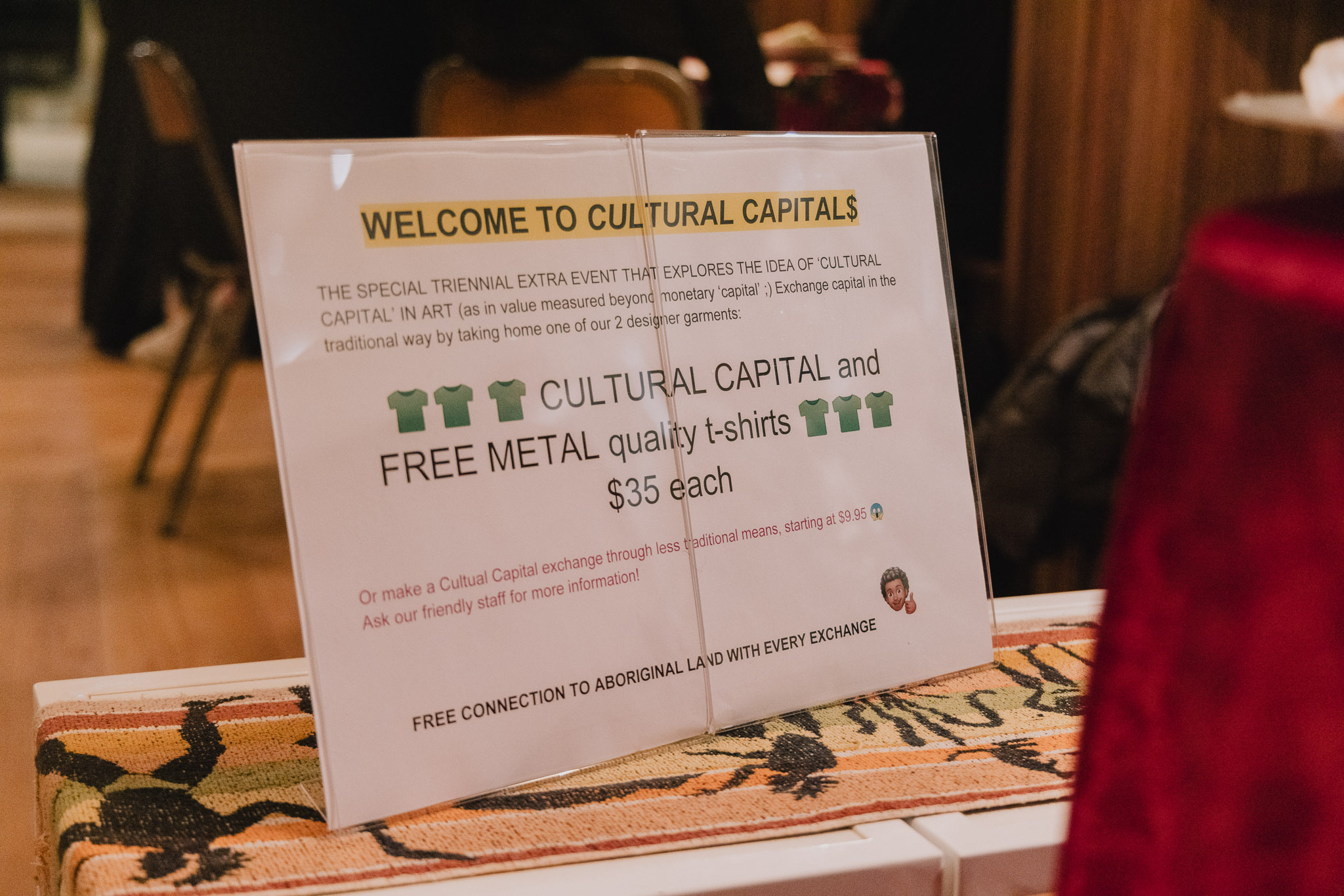 image of a sign that reads 'Welcome to Cultural Capital'